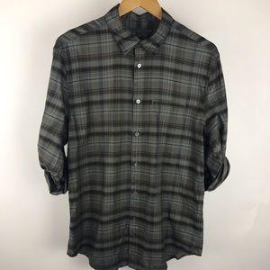 John Varvatos Collection Sport shirt plaid size M